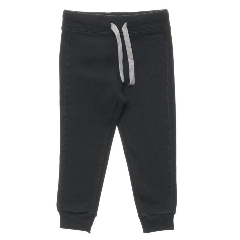 Pantaloni din bumbac cu sigla mărcii, negri  214590