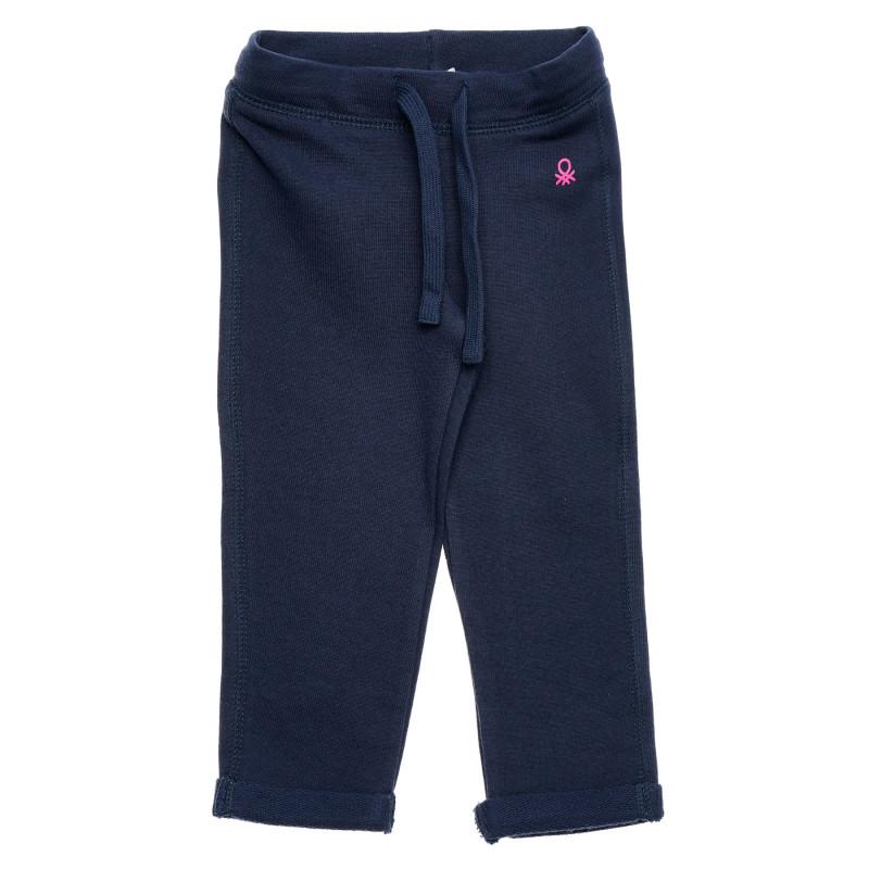 Pantaloni din bumbac cu logo roz, albastru  214602