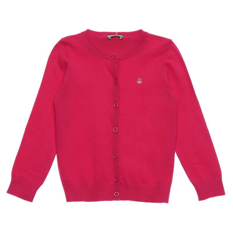 Cardigan cu logo brodat, roz  214723