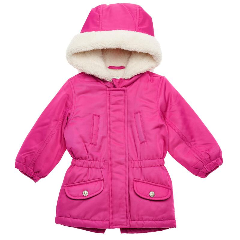 Geacă de iarnă cu glugă pentru bebeluși, roz  214792