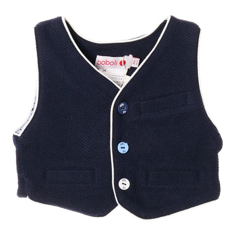 Vesta pentru bebeluși cu nasturi multicolori, albastru închis  215618
