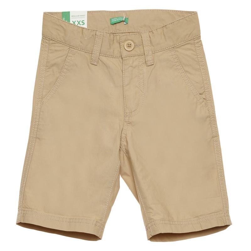 Pantaloni scurți din bumbac, maro  215700