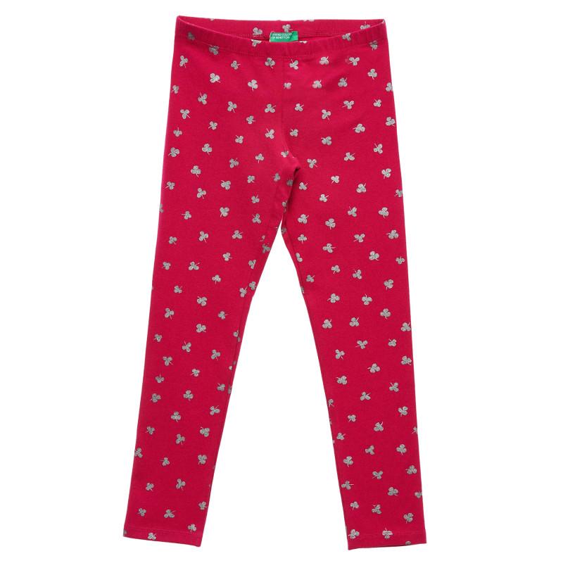 Colanți cu trifoi, roz  215743