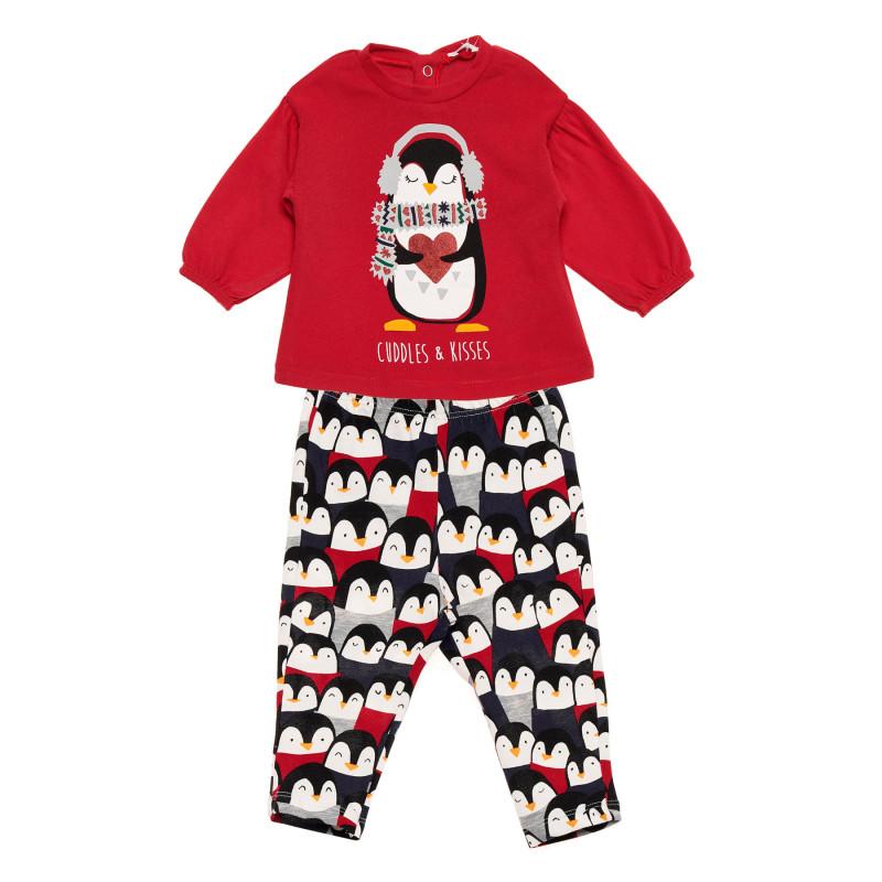 Pijamale din bumbac din două piese pentru bebeluși, multicolore  215818