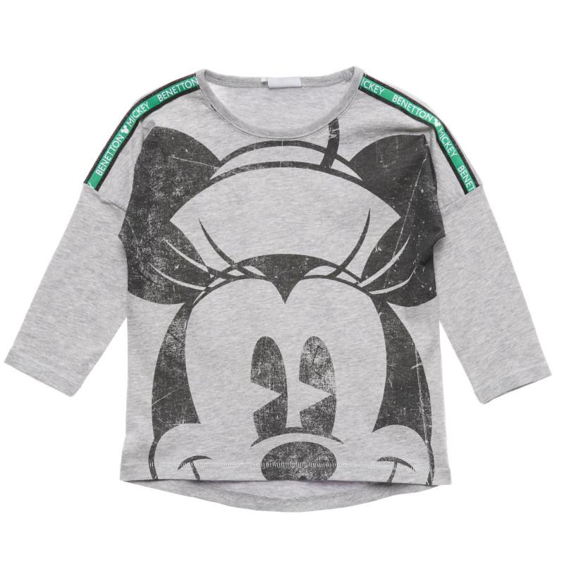 Bluză din bumbac cu Mickey Mouse, gri  215995