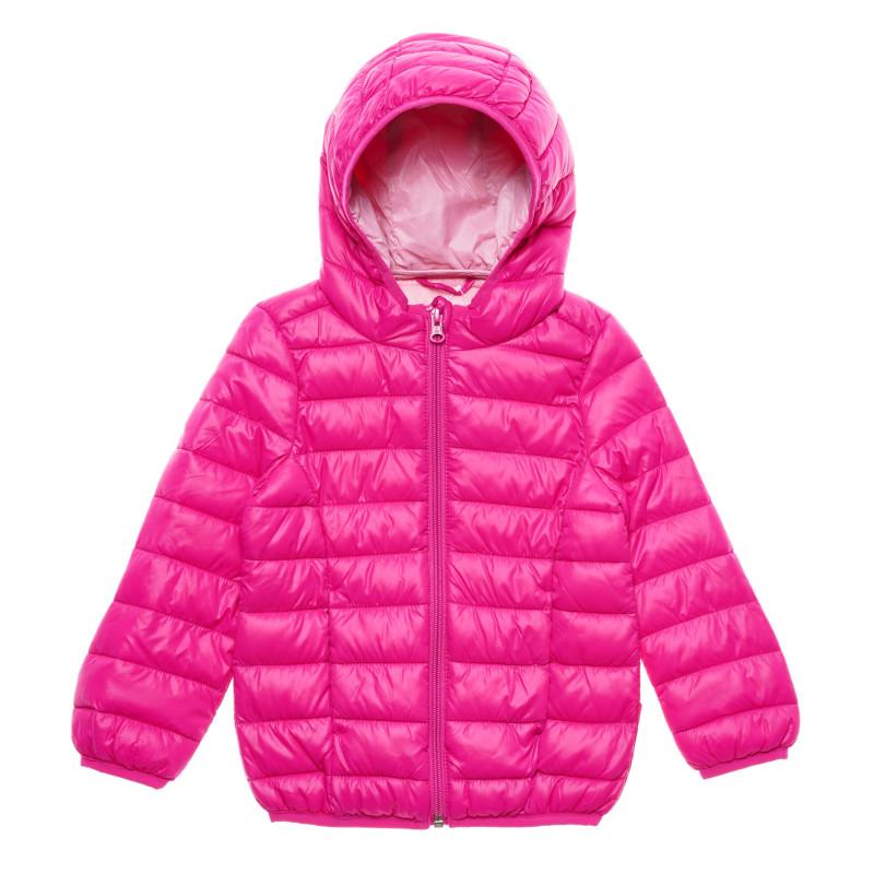 Geacă de iarnă, de  culoare roz  216059