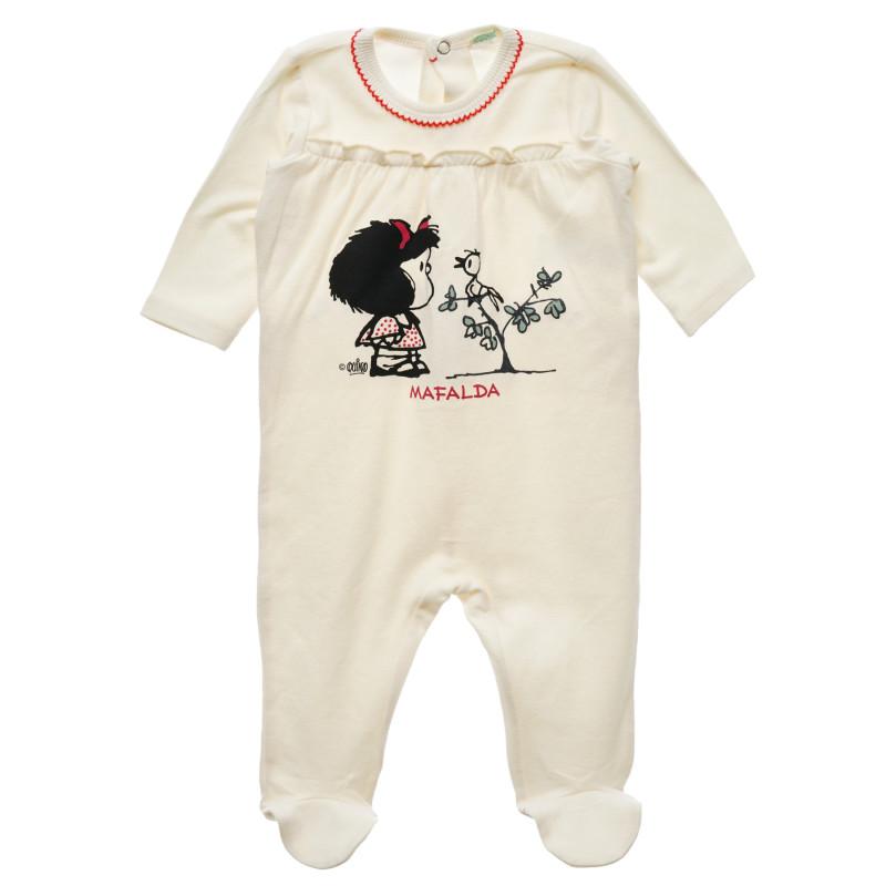 Salopetă pentru bebeluș, albă  216099