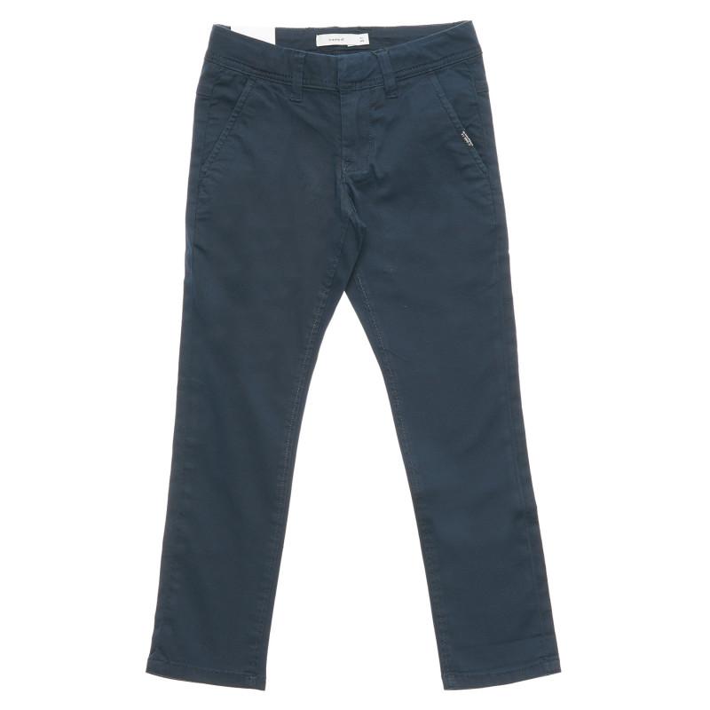 Pantaloni de bumbac pentru o fată în culoare gri  216425