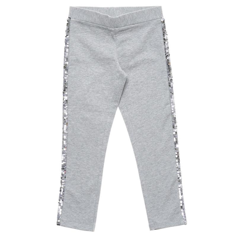 Pantaloni stil pană decorați cu margine de paiete  217056