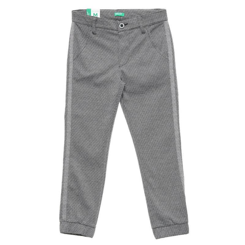 Pantaloni cu elastic la capătul picioarelor, gri  217108