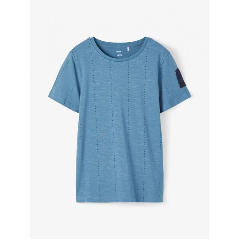 Tricou din bumbac organic, albastru  218293