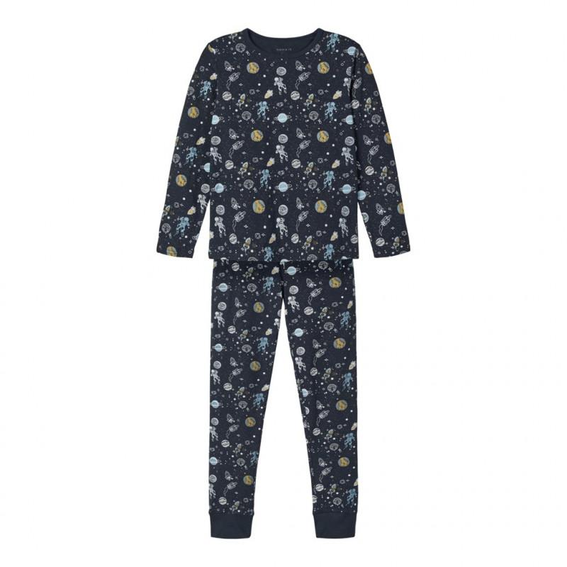 Pijamale din două piese cu imprimeu astronauți, albastru  218299