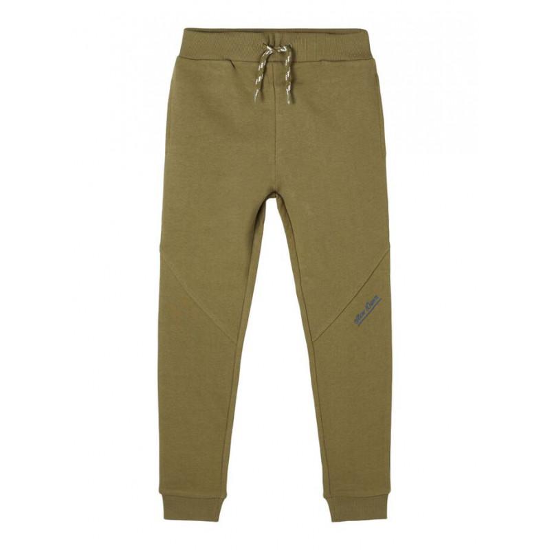 Pantaloni din bumbac organic, verzi  218367
