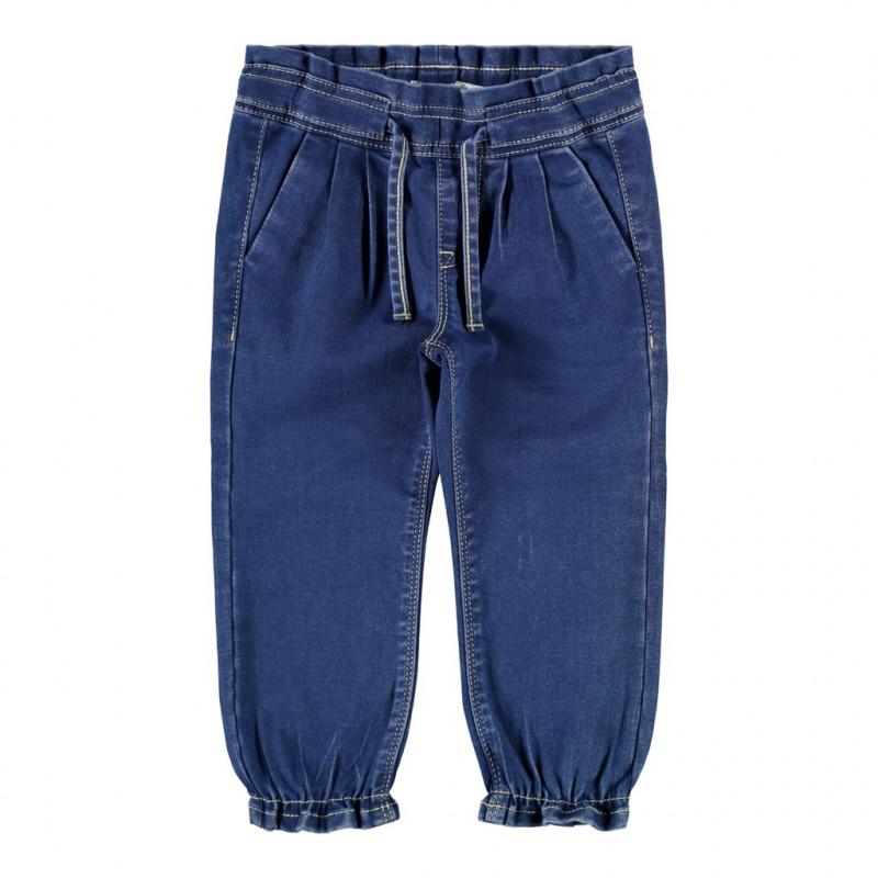 Blugi cu elastic la capătul picioarelor, albastru  218403