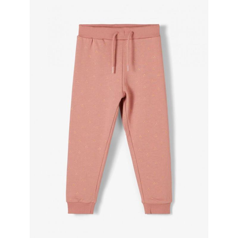 Pantaloni din bumbac organic pentru fetițe, roz  218411