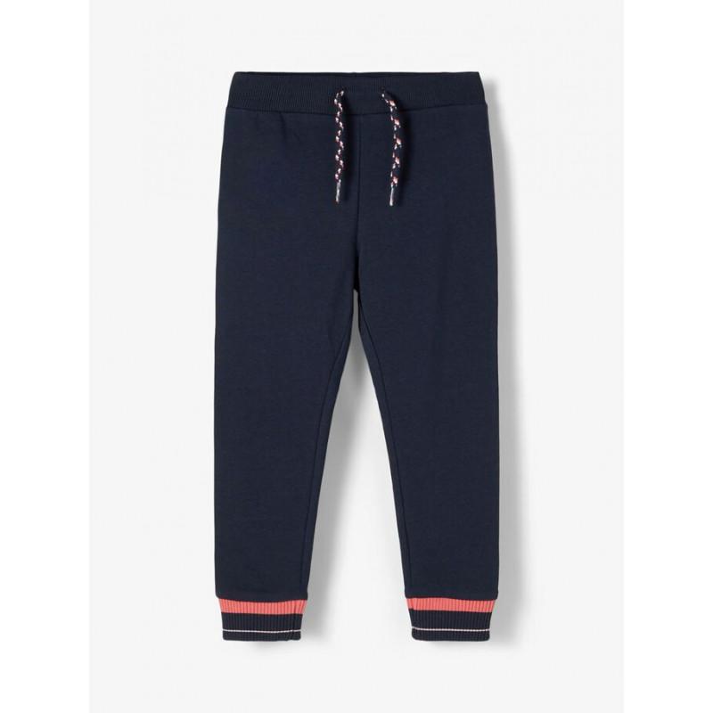 Pantaloni din bumbac organic pentru bebeluși, albastru închis  218419
