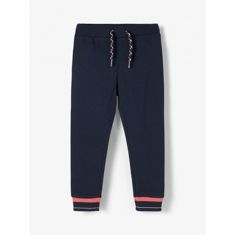 Pantaloni din bumbac organic, albaștri închis  218423