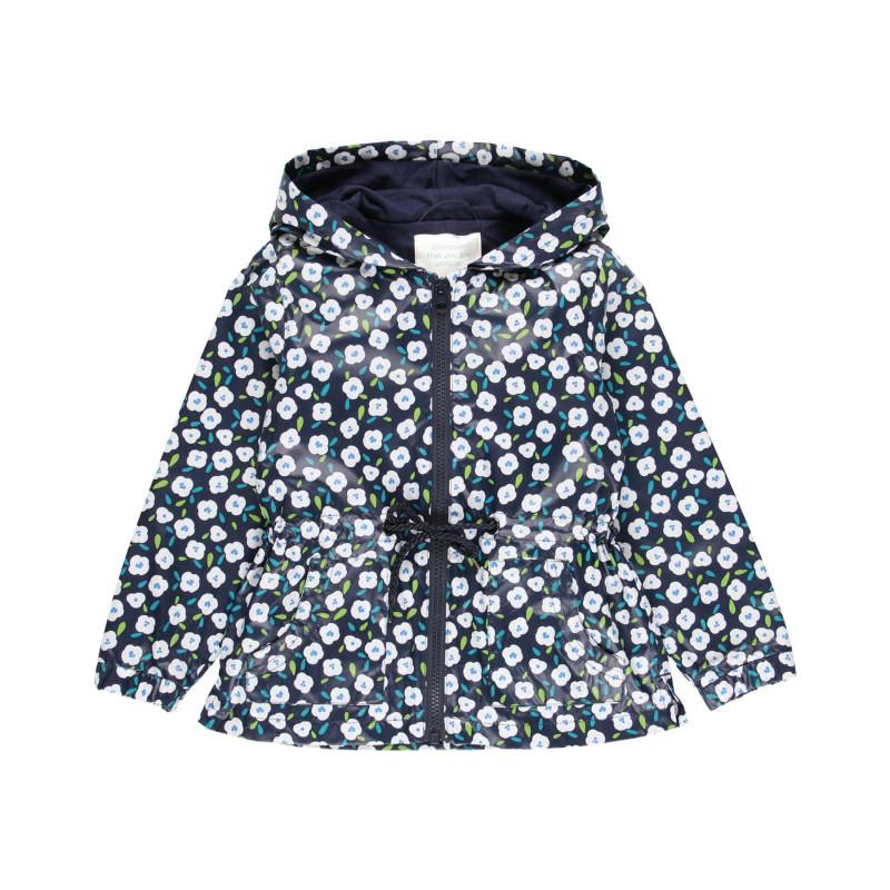 Jachetă cu imprimeu floral, albastră  219147