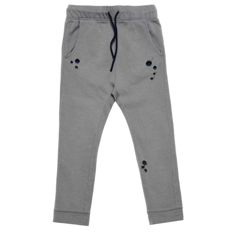 Pantaloni sport de bumbac, culoare gri  220139