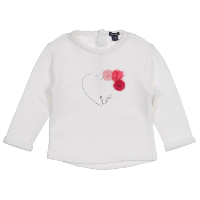 Bluză pentru bebeluși, de culoare albă  222132