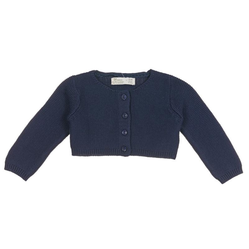 Cardigan scurt tricotat pentru bebeluși, albastru  222176