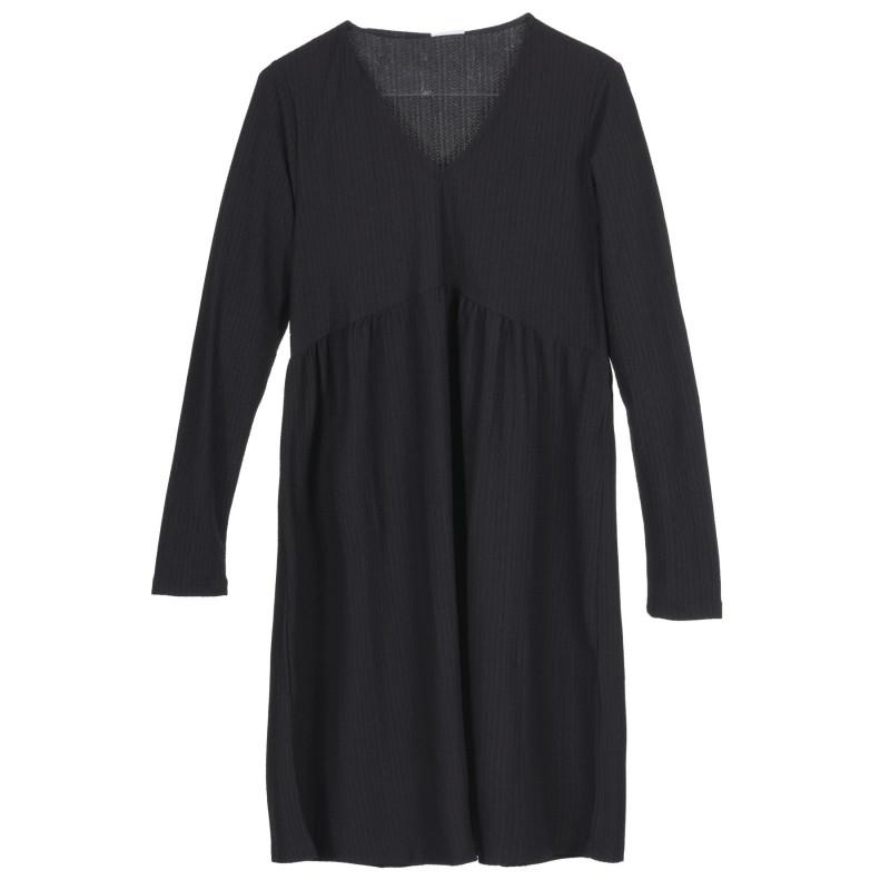 Rochie cu mâneci lungi pentru gravide, neagră  222192
