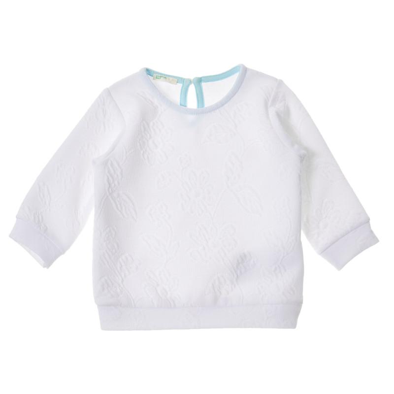 Bluză pentru bebeluși cu mâneci lungi de culoare albă  223259