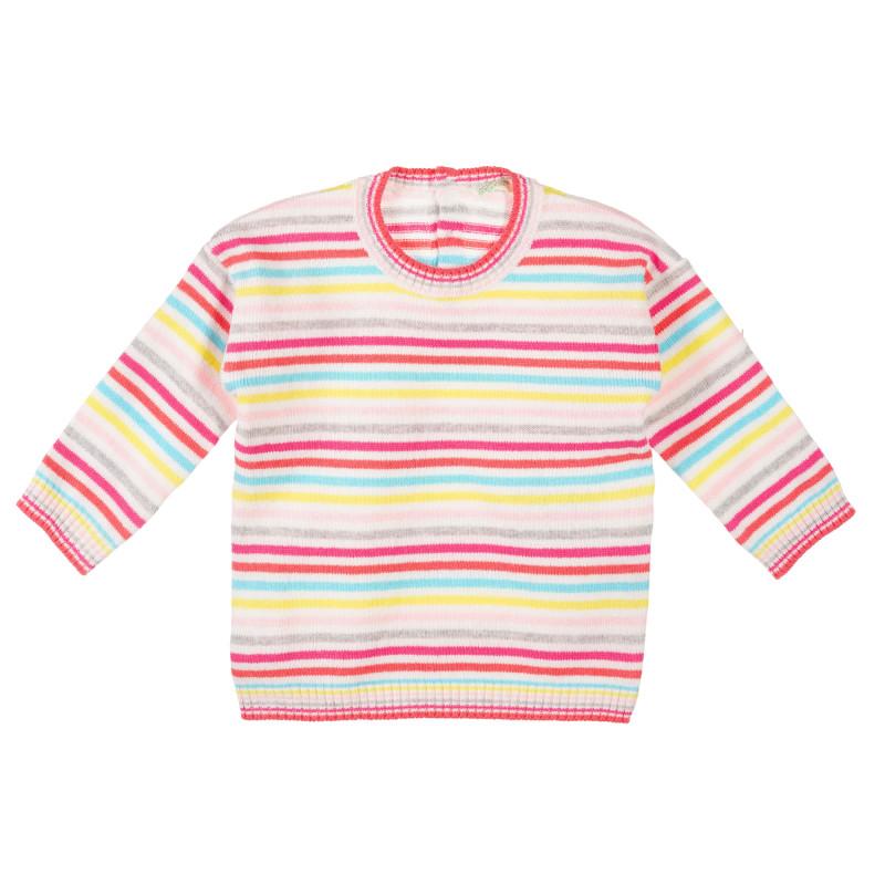 Pulover în dungi colorate pentru bebeluși, multicolor  223425