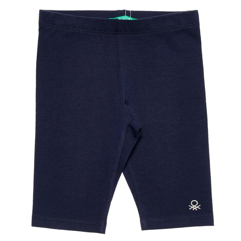 Pantaloni din bumbac pentru un bebeluș cu lungime 3/4, albastru  223675