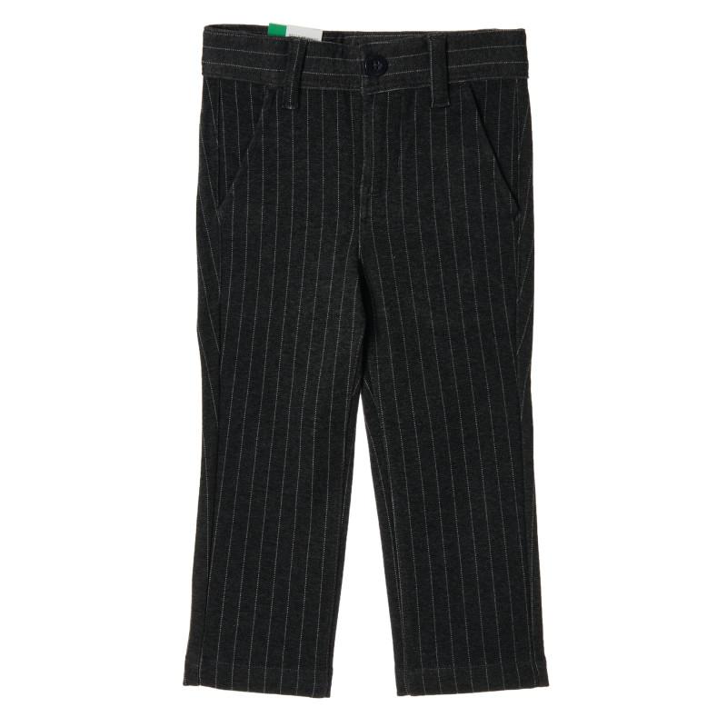 Pantaloni pentru bebeluși cu dungi, gri închis  223793