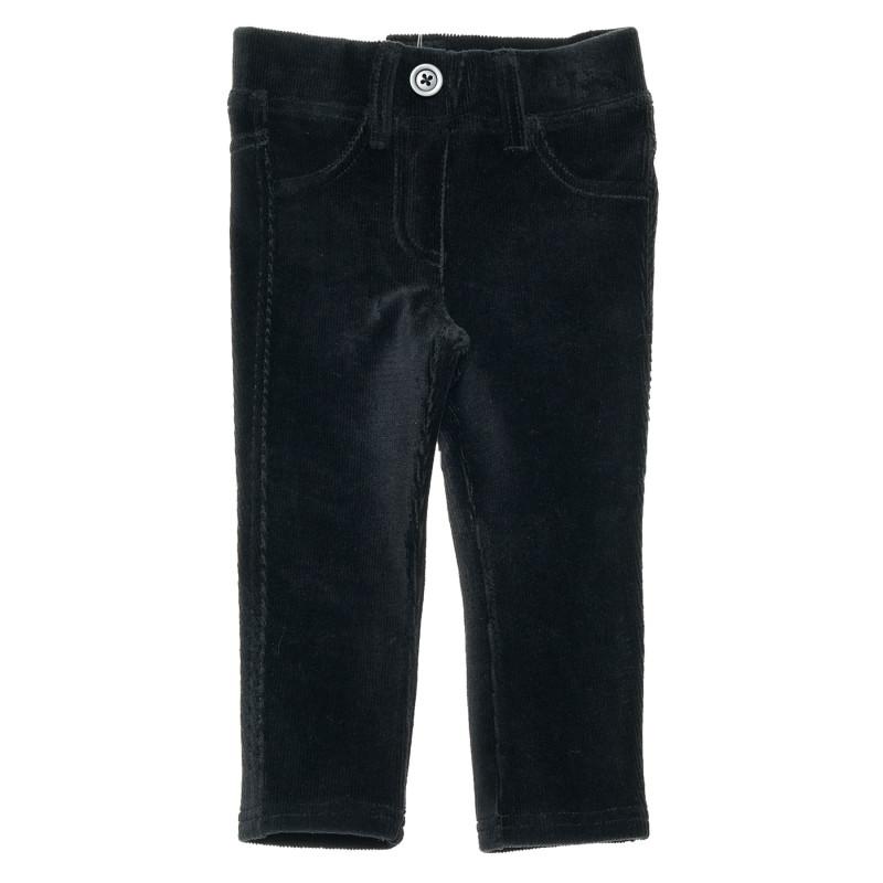 Pantaloni de catifea pentru bebeluși, negri  223837