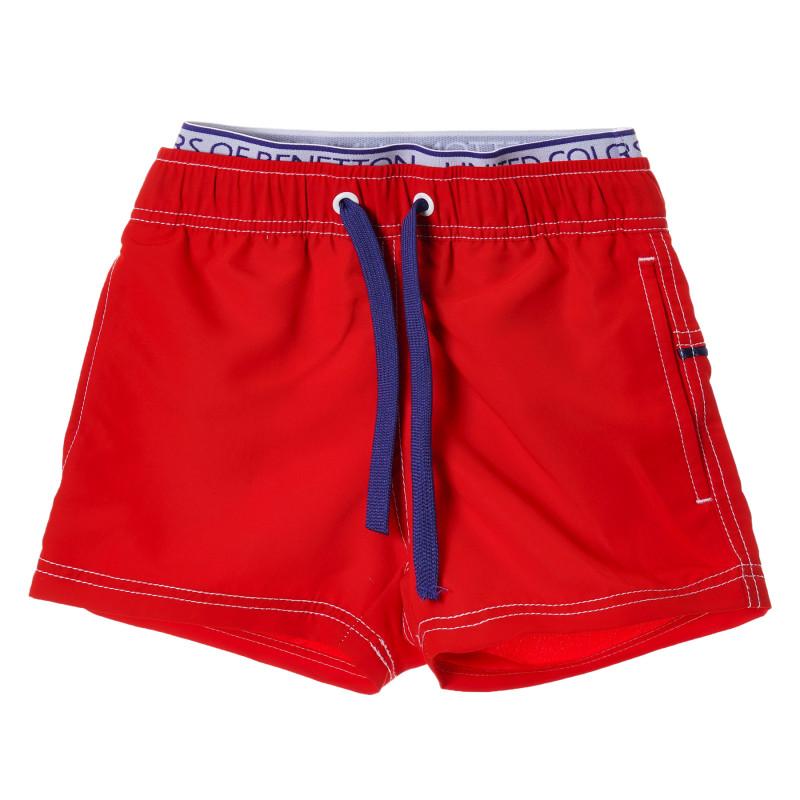 Costum de baie roșu cu accente albastre  223998