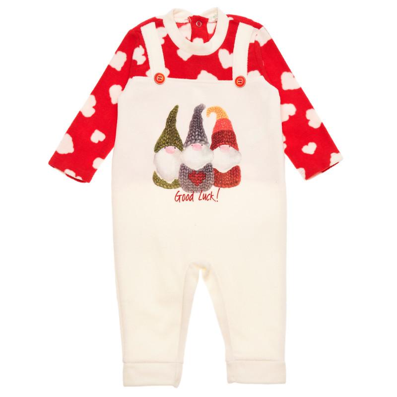 Salopetă polară pentru bebeluși, multicoloră  226537
