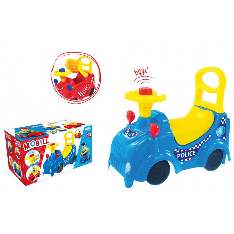 Mașină cu scaun și mâner în albastru  2282