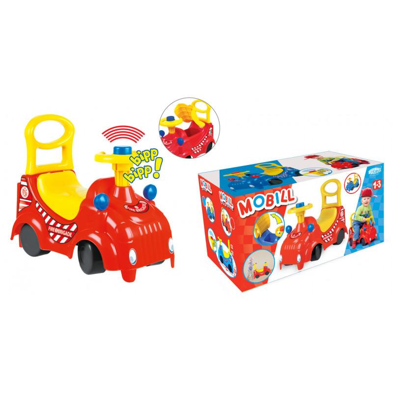 Mașină cu scaun și mânere, în roșu și galben  2283