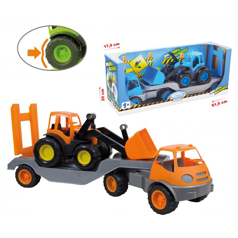 Camion cu remorcă și excavator, Mașini pentru construcții  2291