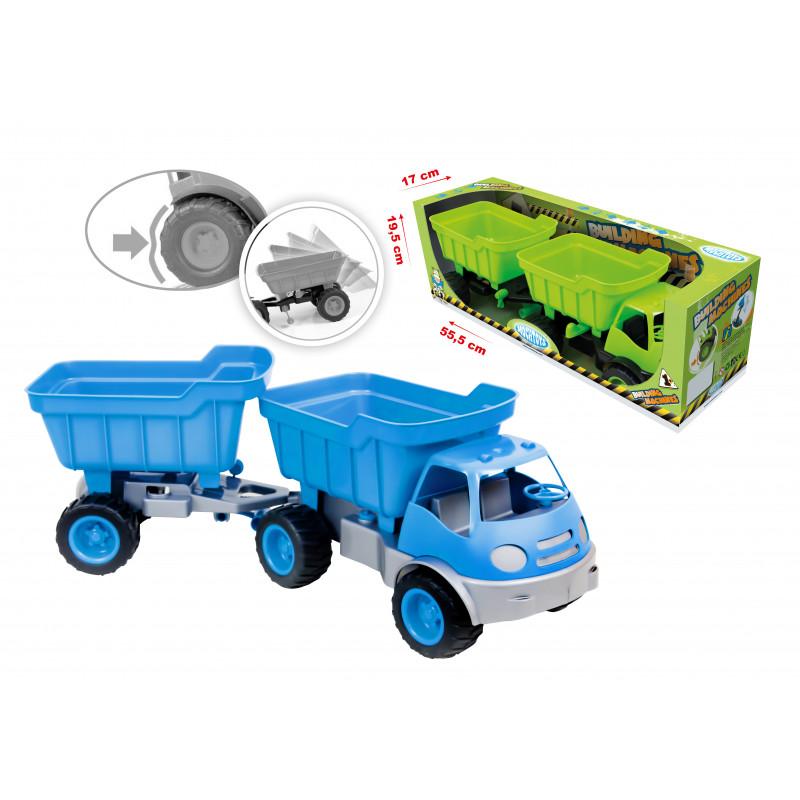 Camion cu remorcă și cupă, Mașini pentru construcții  2292