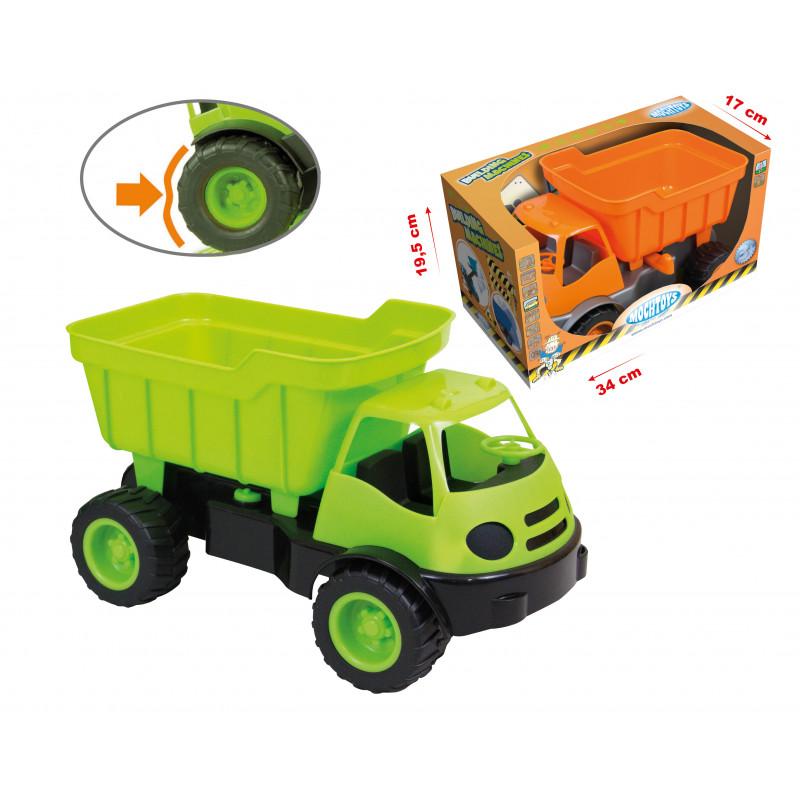 Camion cu remorcă, mașini verzi, pentru construcții  2293