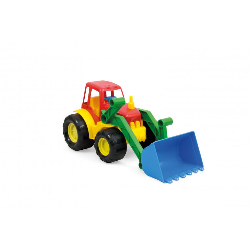 Buldozer color cu găleată, mașini de construcție  2300