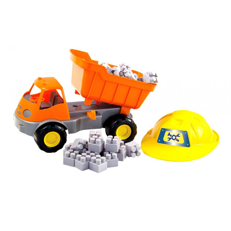 Camion cu set de cuburi pentru construcție  2311