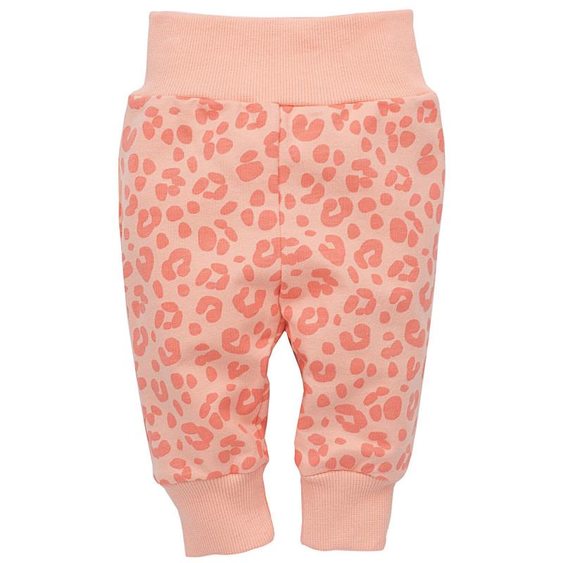 Pantaloni de bumbac cu elastic larg pentru o fetiță  23181