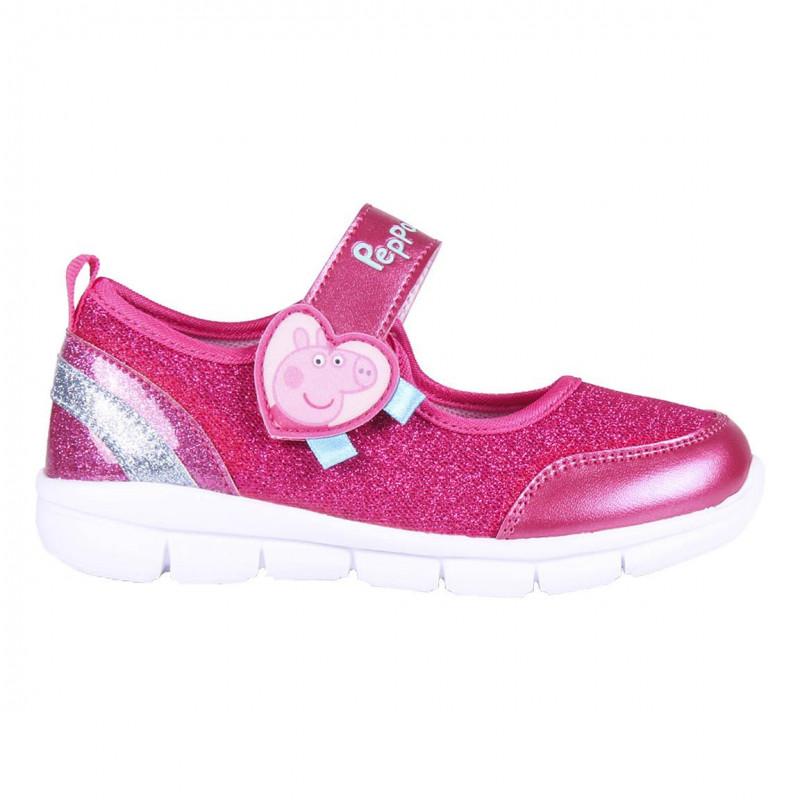 Sandale cu brocart Peppa Pig, roz  233048