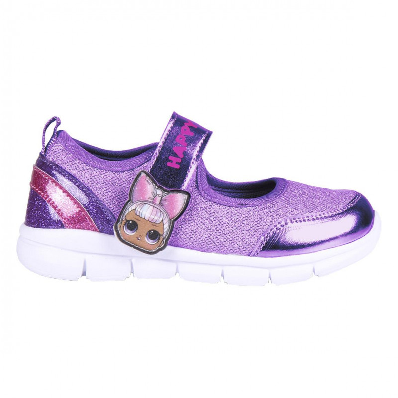 Sandale cu accente strălucitoare LOL, violet  233049