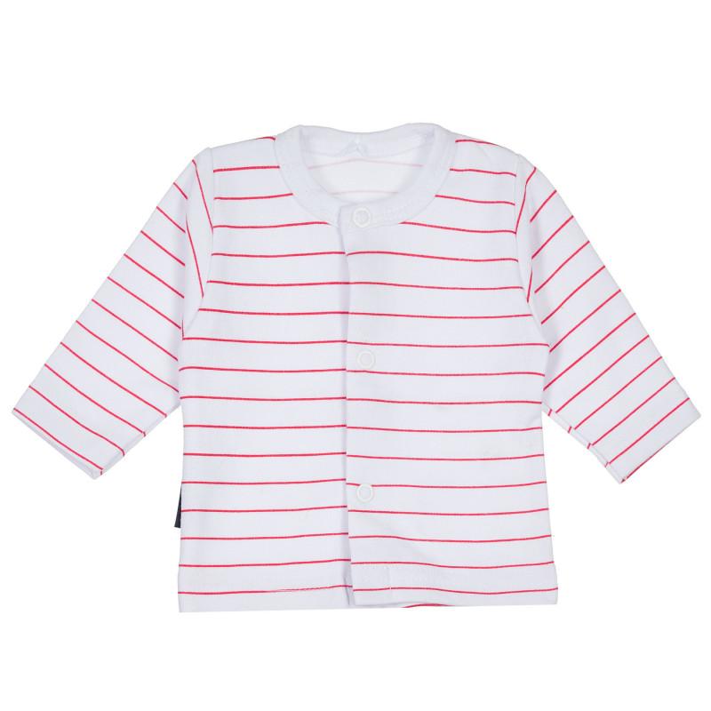 Bluză din bumbac cu mânecă lungă cu nasturi pentru fetițe  235321