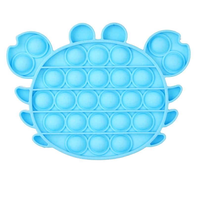 Jucărie anti-stres Crab Pop It, albastru  235773