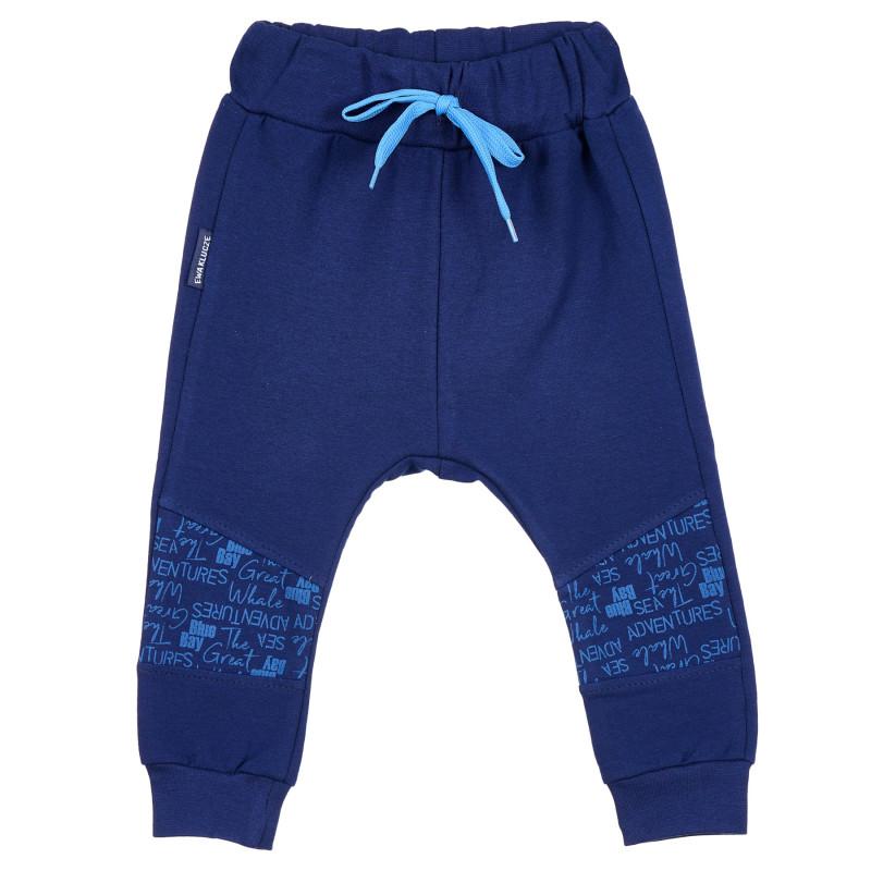 Pantaloni sport unisex din bumbac pentru copii  235804