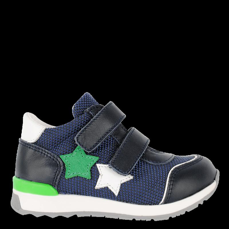 Pantofi sport cu aplicație de stele, albastru închis  236019