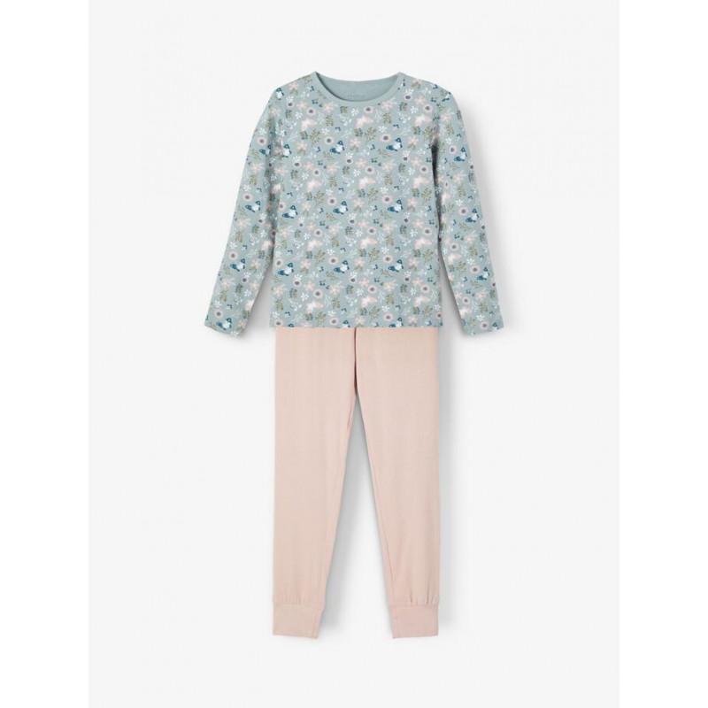 Pijamale din bumbac din două piese, în roz și albastru  236148