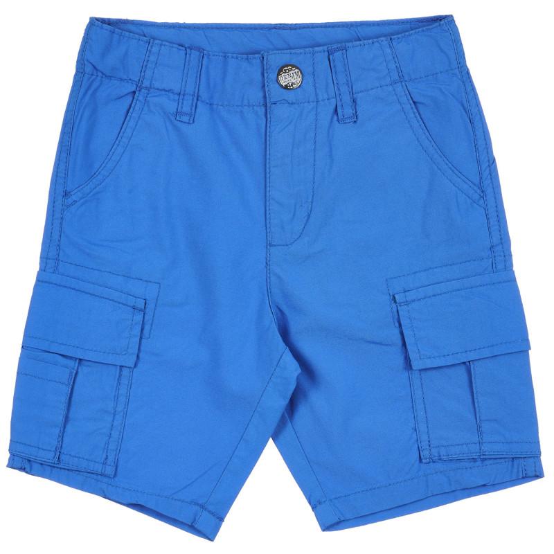 Pantaloni scurți din bumbac de culoare albastră  239262