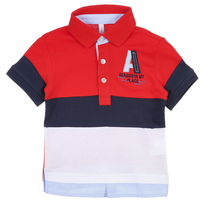 Tricou din bumbac cu guler pentru bebeluș, multicolor  239270